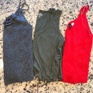 Cropped Knit Tank Lot